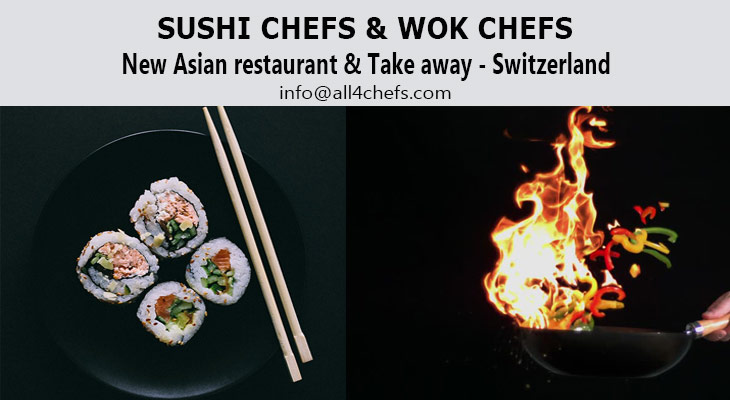 Jobs for sushi chefs , jobs for Wok chefs